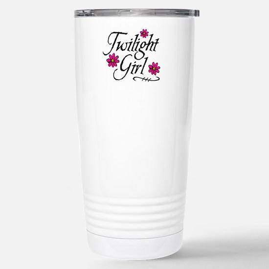 Twilight Girl Flowerz Stainless Steel Travel Mug