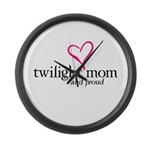 Proud Twilight Mom Large Wall Clock