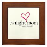 Proud Twilight Mom Framed Tile