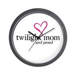 Proud Twilight Mom Wall Clock