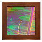 Blood Banana Leaf Abstract - Framed Tile