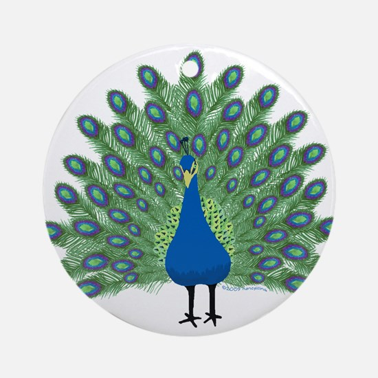 Peacock Ornament (Round)