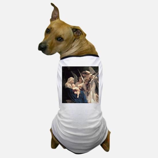 Cute Bouguereau the virgin with angels Dog T-Shirt