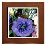 Purple Lisianthus - Framed Tile