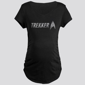 Star Trek silver TREKKER Maternity Dark T-Shirt
