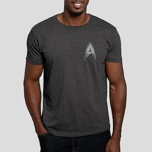 Star Trek Logo silver Dark T-Shirt