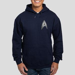 Star Trek Logo silver Hoodie (dark)