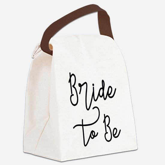 Script Bride to Be Canvas Lunch Bag