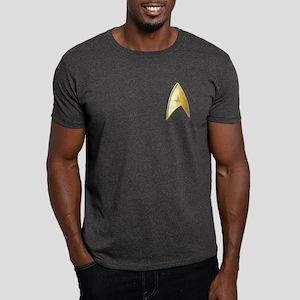 Star Trek Logo gold Dark T-Shirt