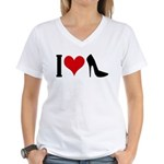I love High Heels Women's V-Neck T-Shirt