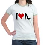 I love High Heels Jr. Ringer T-Shirt