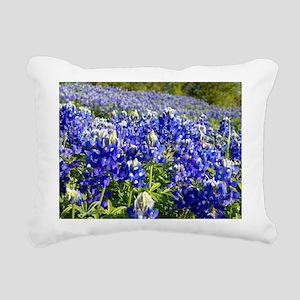 Fields of Bluebonnets Rectangular Canvas Pillow