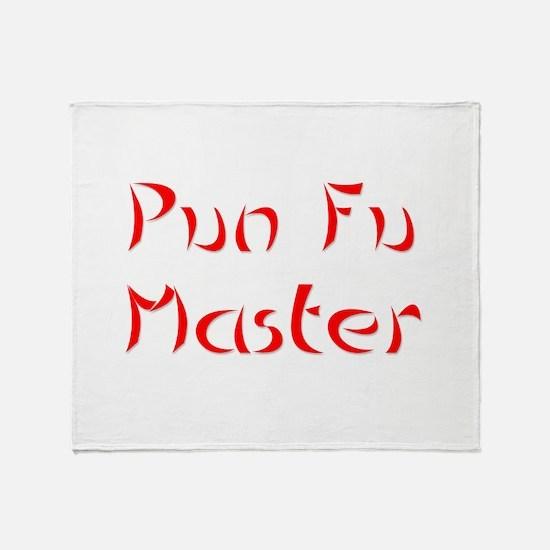 Pun Fu Master Throw Blanket