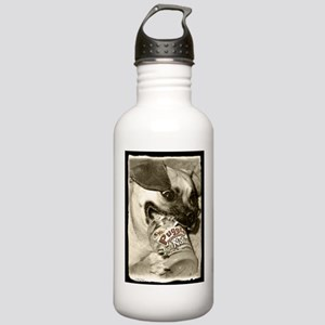 Puggle Peanutbutter Stainless Water Bottle 1.0L