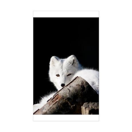 Arctic Fox Sticker (Rectangle 10 pk)