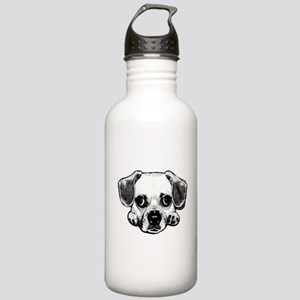 Black & White Puggle Stainless Water Bottle 1.0L