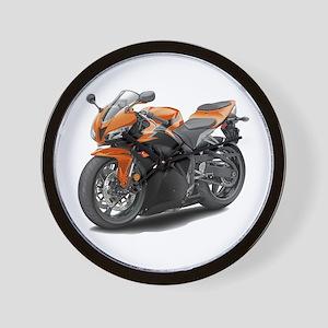 CBR 600 Orange-Black Bike Wall Clock