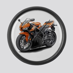CBR 600 Orange-Black Bike Large Wall Clock