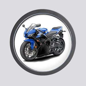 CBR 600 Blue-Black Bike Wall Clock