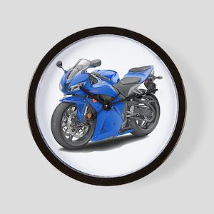 CBR 600 Blue Bike Wall Clock