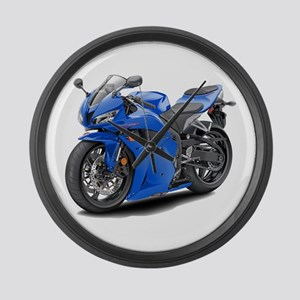 CBR 600 Blue Bike Large Wall Clock