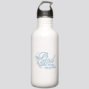 With God All Things are Possi Stainless Water Bott