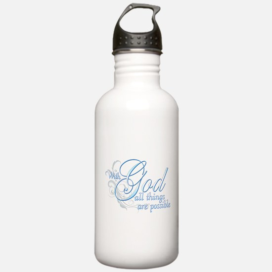 With God All Things are Possi Water Bottle