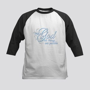 With God All Things are Possi Kids Baseball Jersey