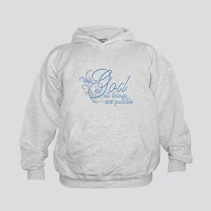 With God All Things are Possi Kids Hoodie