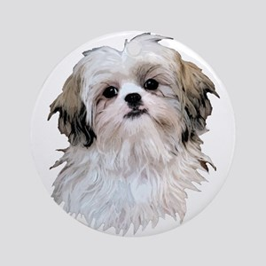 Shih Tzu Lover Ornament (Round)
