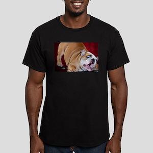 English Bulldog Puppy Men's Fitted T-Shirt (dark)