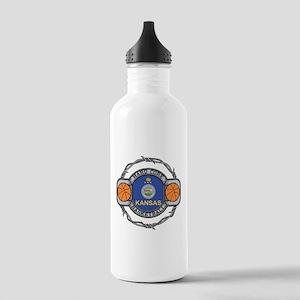 Kansas Basketball Stainless Water Bottle 1.0L
