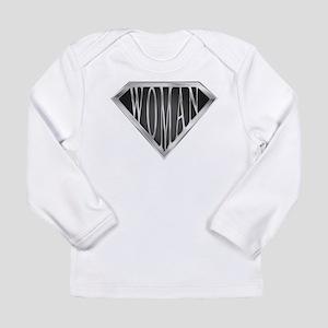 SuperWoman(metal) Long Sleeve Infant T-Shirt