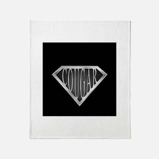 SuperCougar(metal) Throw Blanket