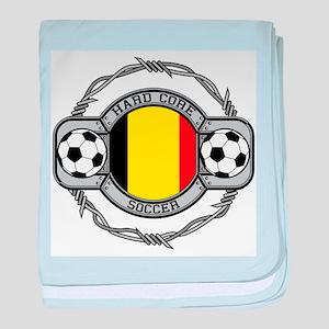 Belgium Soccer baby blanket