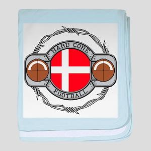 Denmark Football baby blanket