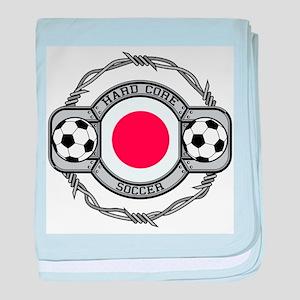 Japan Soccer baby blanket