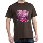 Peace Love Pilates by Svelte.biz Dark T-Shirt