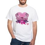 Peace Love Pilates by Svelte.biz White T-Shirt