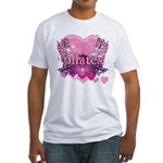 Peace Love Pilates by Svelte.biz Fitted T-Shirt