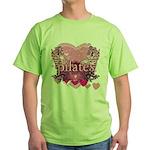 Peace Love Pilates by Svelte.biz Green T-Shirt
