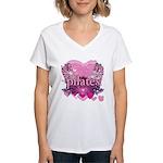 Peace Love Pilates by Svelte.biz Women's V-Neck T-