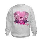 Peace Love Pilates by Svelte.biz Kids Sweatshirt