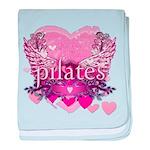 Peace Love Pilates by Svelte.biz baby blanket