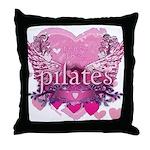 Peace Love Pilates by Svelte.biz Throw Pillow