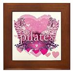 Peace Love Pilates by Svelte.biz Framed Tile