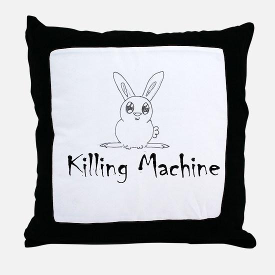 White Bunny Throw Pillow