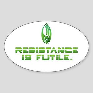 Star Trek Borg - Resistance Sticker (Oval)