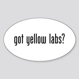 Got Yellow Labs Sticker (Oval)