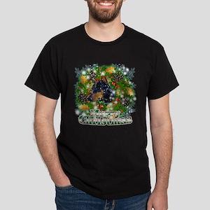 Merry Christmas Doberman 2 Dark T-Shirt